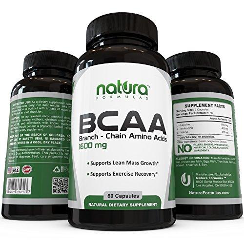 BCAA Capsules # 1 Top Évalué acides aminés ramifiés sur Amazon - Lean croissance musculaire, la récupération musculaire rapide, stimuler le métabolisme et la perte de poids - Dietary Supplement de Natura Formules - obtenir des résultats ou remboursé!