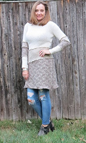 Creams N Browns Alpaca Sweater Dress by Diana by design