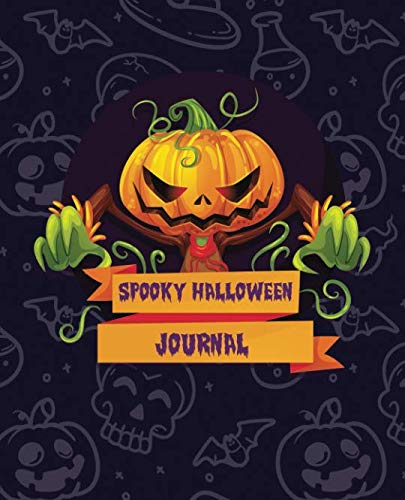 Spooky Halloween Journal: Color Pages -