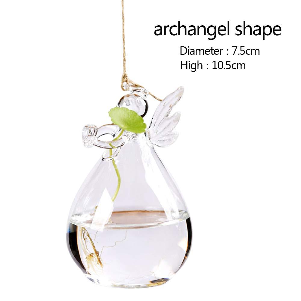 Godagoda Hanging Transparent Glass vase Indoor Gardening Plant Decorative Bottle