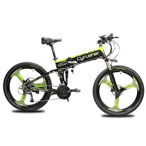 Cyrusher XF770 Folding Electric Bike 500W/250W Mountain Bicycle Full Suspension