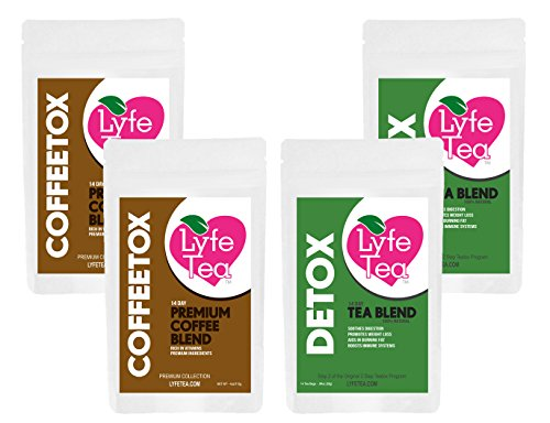 28 Day Coffeetox - Natural Moringa, Guarana, and Arabica Beans that Cleanse Toxins, Soothes Digestion, Increases Energy, Boosts Metabolism, Helps Improve Health, Promotes Weight Loss by Lyfe Tea