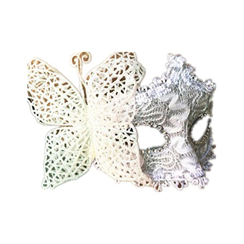 Halloween Masquerade Princess Mask Venice Party Eye patch Butterfly (Butterfly Feather Eye Mask)