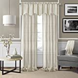 Elrene Home Fashions 026865876178 Rod Pocket Sheer Valance Window Curtain Drape, 56″ x 15″, Ivory Review