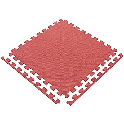 Ottomanson Multipurpose Interlocking Puzzle Eva Foam Tiles-Anti-Fatigue Mat
