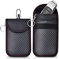 Caslord 2 Pack Faraday Pouch,Anti-Theft Faraday Bag for Car Keys,RFID Car Key Signal Blocking Pouch (M)