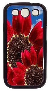 Samsung Note S3 CaseRed Sunflower PC Custom Samsung Note 2 Case Cover Black