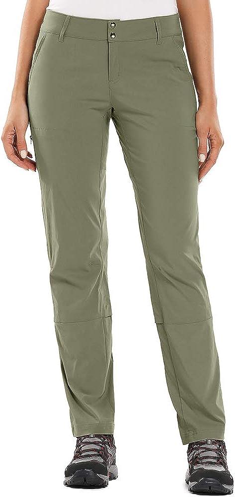 Asfixiado Women's Hiking Pants Stretch Convertible Quick Dry Lightweight Outdoor UPF 40 Fishing Safari Travel Camping Cargo Pants #6061 Khaki-28(US 6)