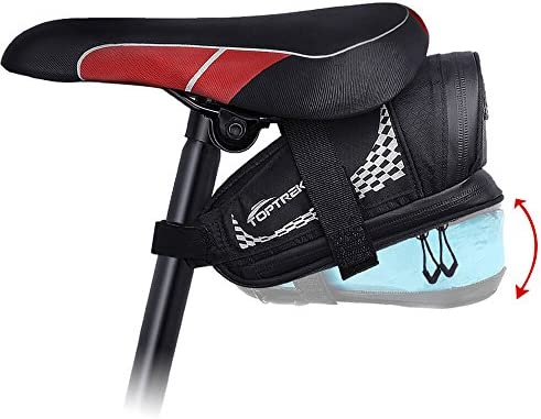 Bicycle Under Seat Bag Large Capacity Waterproof Expabdable Cycling Rear Case