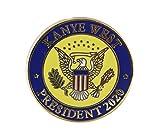 kanye merchandise - Kanye 2020-- US Presidential Seal Enamel Lapel Pin (1 Pin)