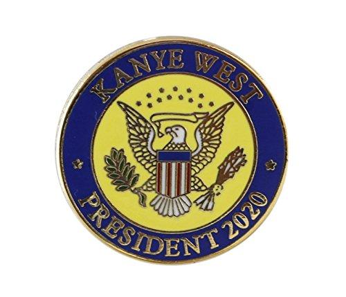 - Forge Kanye 2020- US Presidential Seal Enamel Lapel Pin (1 Pin)