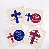 Religious Canvas Tote Bag