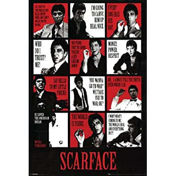 "1983 AL PACINO TONY MONTANA 24/""x36/"" NEW SCARFACE POSTER MONEY POWER WOMAN QUOTE"