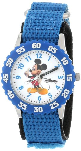 Disney Kids' W000002 Mickey Mouse Stainless Steel Time Teacher Watch -  WDS000085