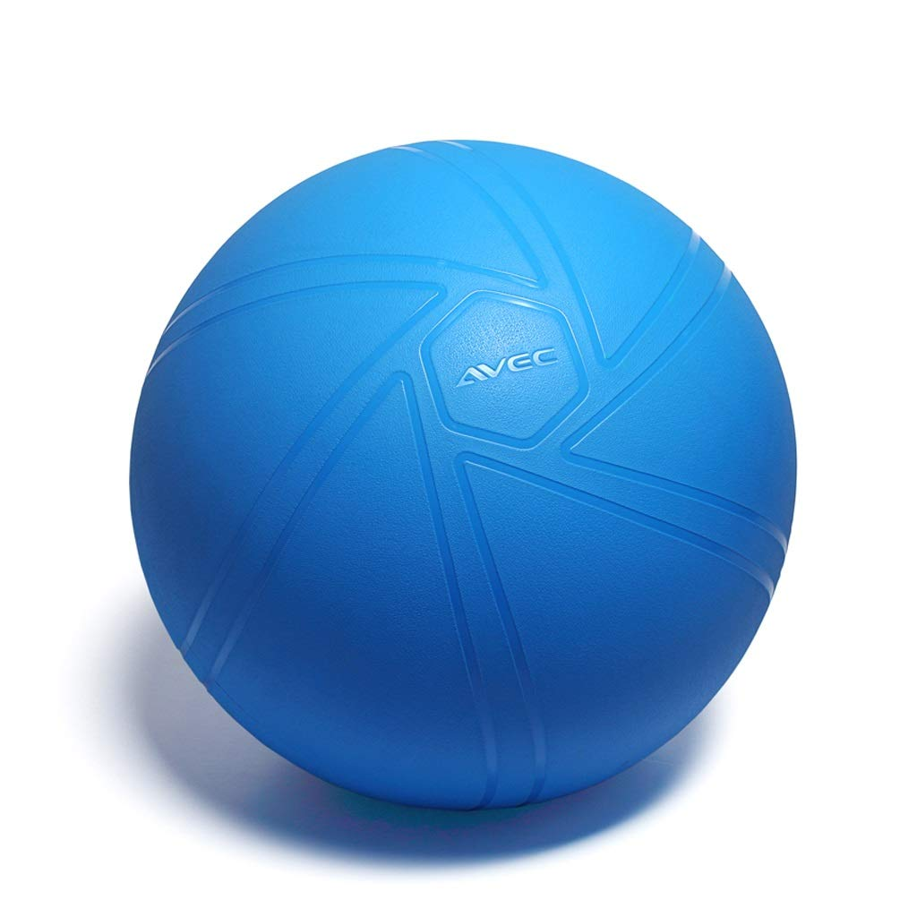 TMY Yoga Ball Explosion-Proof Boys and Girls Fitness Ball Pregnant Women Special Midwifery Delivery Balance Ball (Color : Blue, Size : 55cm)