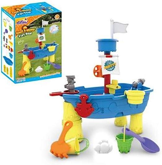Juego de mesa de arena y agua para barco pirata, juego grande de arena para jardín para niños pequeños Style 1: Amazon.es: Hogar