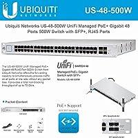 Ubiquiti Network UniFi US-48-500W Managed PoE+ Gigabit 48 Ports Gigabit Switch with RJ45, SFP+ Ports