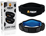 Spartan Strength Tennis Elbow Band by (Pack of 2) Effective Tendonitis & Golf Elbow Strap for Support Adjustable Brace with Gel Compression Therapy Pad Relieves Tendinitis and Forearm Pain