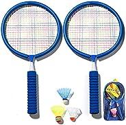 badewanne Raquetes de badminton para crianças, leve, bolsa de transporte, petecas, raquete, conjunto esportivo