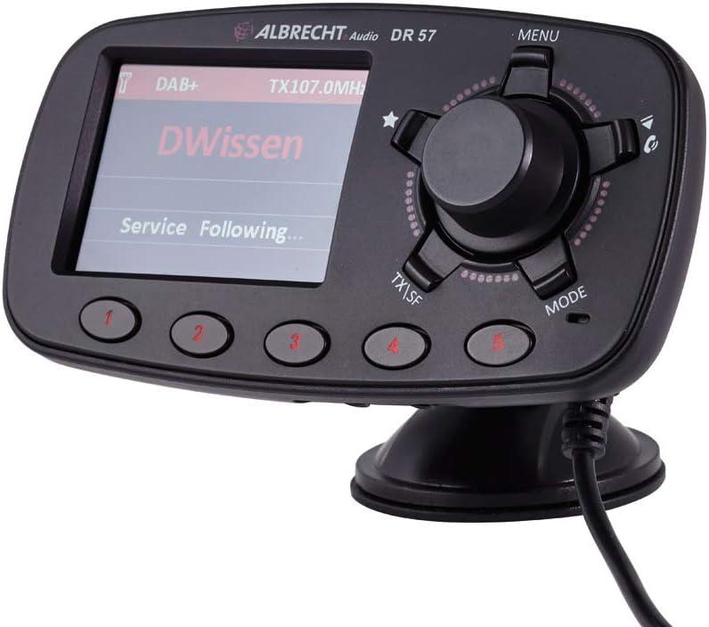 Albrecht Dr 57 Adapter Zum Aufrüsten Von Auto Radios 27257 Fm Transmitter Für Dab Sender Und Bluetooth Verbindung Vom Smartphone Zum Ukw Radio Heimkino Tv Video