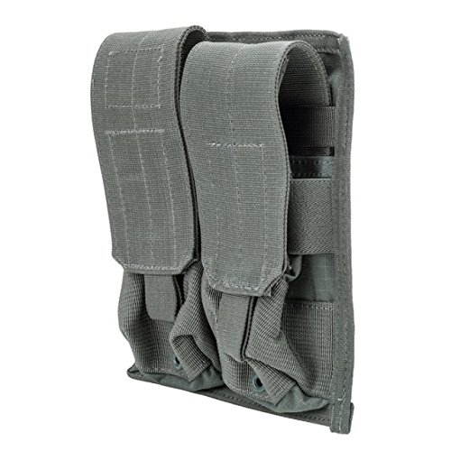 Strike M4 Double Mag Pouch (BLACKHAWK! 37CL03UG Strike M4/M16 Double Mag Pouch with 4 Holds, Urban Gray)