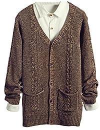 Generic Mens Fashion V-Neck Button Fine Knit Cardigan