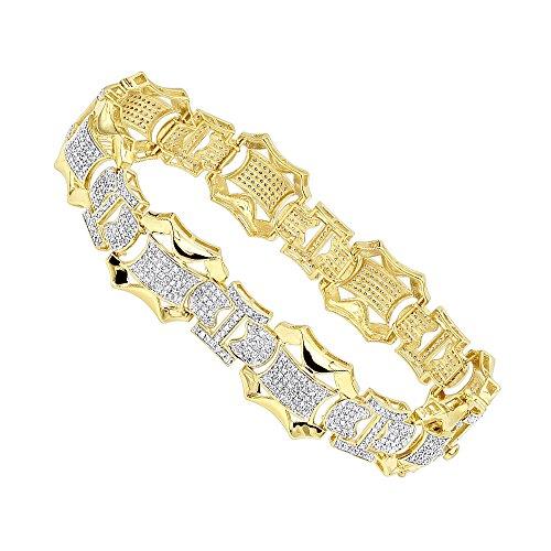 10k Gold And Diamond Bracelet - 2