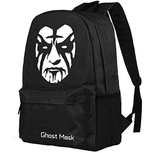Black GhostFaceWhiteFace ghostfacewhiteface Personnages Cartoon Dos à MYLL Personnalitéétudiant Unisexe Sac Blue Sacs Creative qZ4PwA