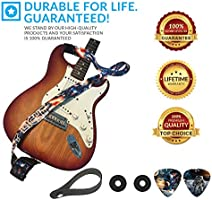 For Electric /& Acoustic First Act Discovery /& Guitar Lovers Kids Guitar Strap For Boys /& Girls Space Bundle Includes 2 Strap Locks /& 2 Matching Picks Holidays /& Birthday Presents