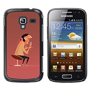 Be-Star Único Patrón Plástico Duro Fundas Cover Cubre Hard Case Cover Para Samsung Galaxy Ace 2 i8160 / Ace2 II XS7560M ( Man Champagne Art Chair Design Painting )