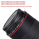 MC UV Filter - Ultra Slim 16 Layers Multi Coated Ultraviolet Protection Lens Filter for Canon Nikon Sony DSLR Lens (55mm)