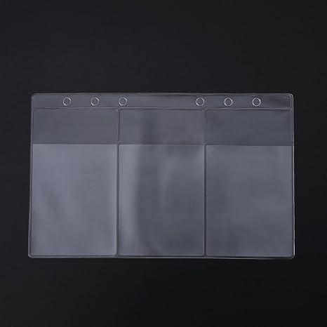 Lamdoo - Carpeta de plástico PVC Transparente para Guardar Tarjetas de Visita, PVC, 17cmx10