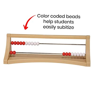 hand2mind 20-Bead Plastic Rekenrek, Math Counting Frame (Ages 4+): Industrial & Scientific
