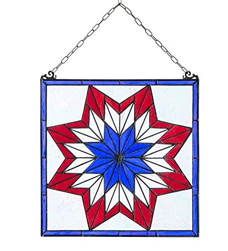 - Plow & Hearth Star Stained Glass Hanging Panel Artwork