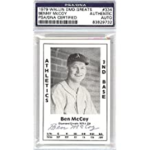 Benny McCoy Signed 1979 Diamond Greats Card #334 A's - PSA/DNA Authentication - Autographed MLB Baseball Cards