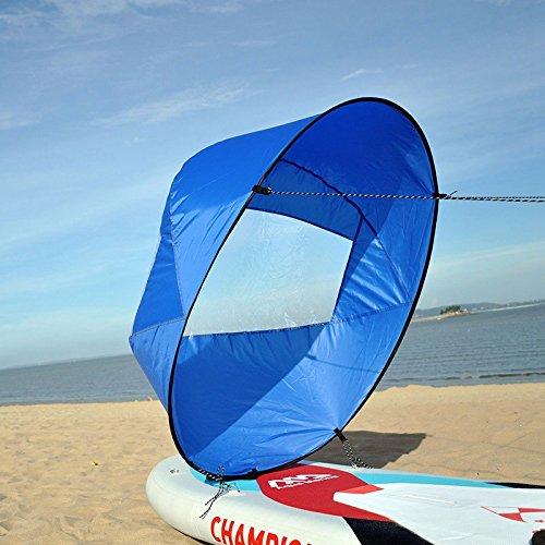 Huya Force 42 Pulgadas Downwind Kayak Vela Paddle, Canoa Kit Vela Instánea - Fácil Configuración & se Despliega Rápidamente & Portátil & Compacto (Blue): ...