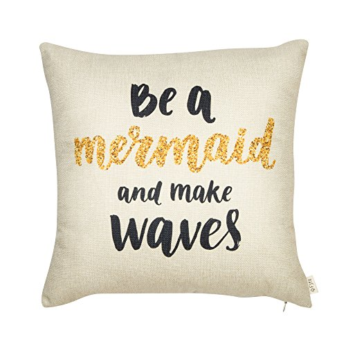 Fjfz Be a Mermaid and Make Waves Motivational Sign Inspirati