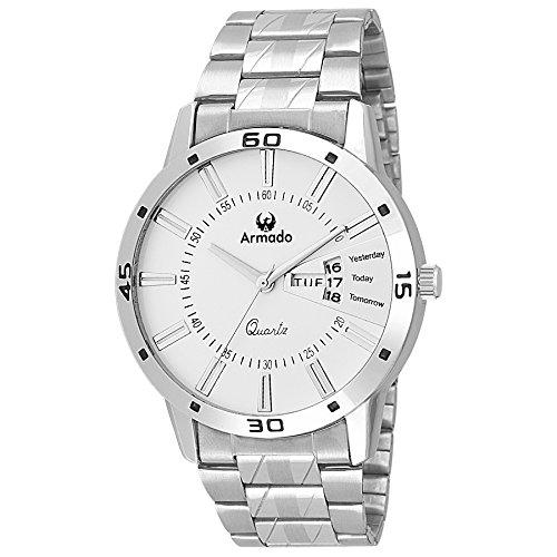 Armado Analogue White Dial Men's Watch - Ar-096-Wht