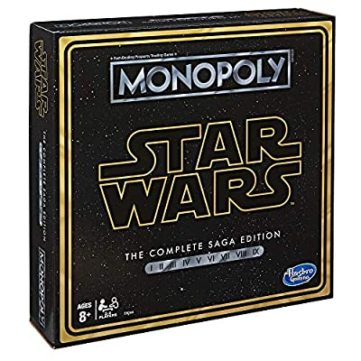 Monopoly: Star Wars Complete Saga Edition Board Game for Kids Ages 8 & Up: Toys & Games
