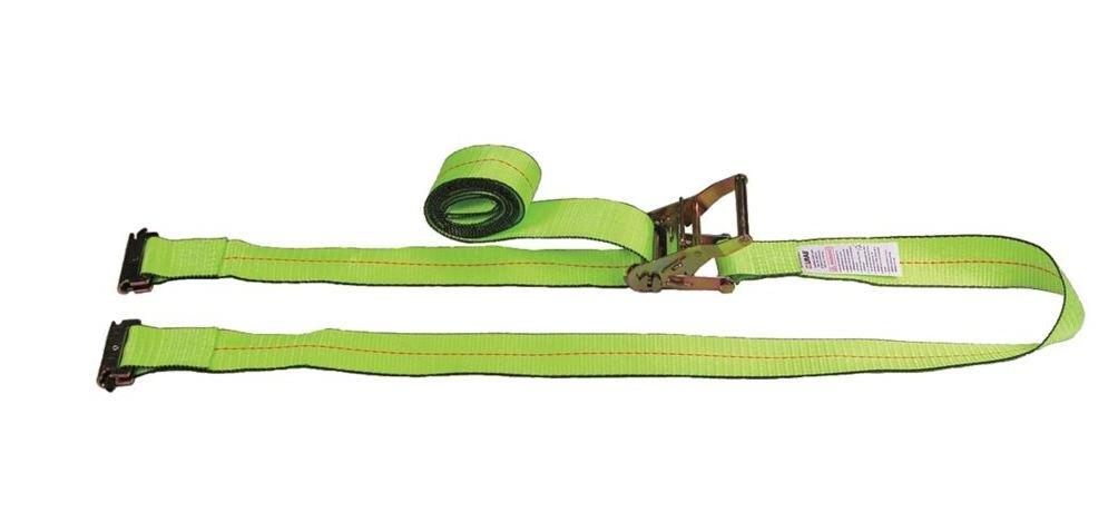 8.0 Length 20 Load Hugger Tuff-Edge Tiedown Yellow Spring FTG Liftall TE60810 E-Track TE 2 x 3 kg Ratchet 5.0 Width