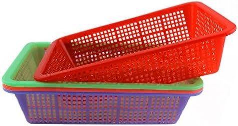 KinTTnyfgi Cesta Pequeña de plástico para Frutas y Verduras, Caja de Almacenamiento de Cocina (Rojo): Amazon.es: Hogar