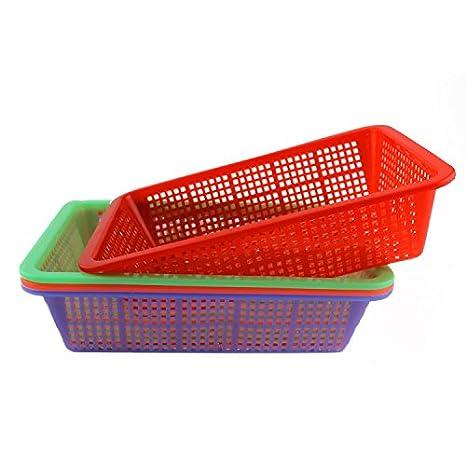KinTTnyfgi Cesta Pequeña de plástico para Frutas y Verduras, Caja de Almacenamiento de Cocina (