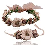 Sunshine Fashion Flower wreath Headband and bracelet for Wedding Festivals