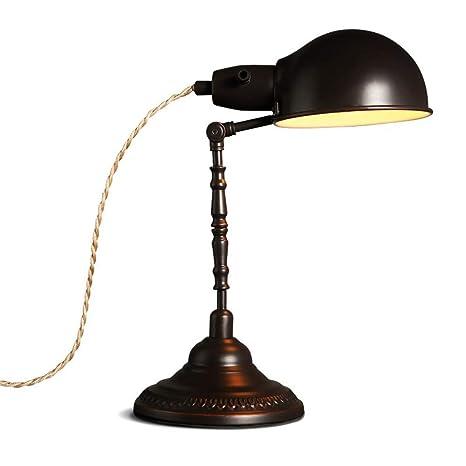 Lámpara creativa europea retro lámpara de mesa lámpara de ...