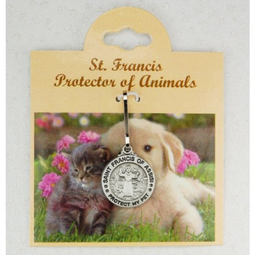 Saint Francis of Assisi Pewter Pet Medal ''Protect My Pet'' (D627)