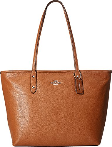 Coach Pebbled Leather Double Handle