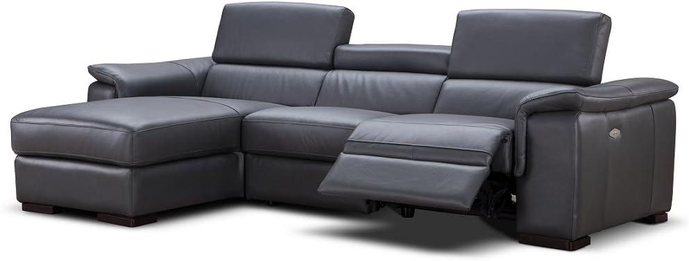 JNM Furniture Allegra Premium Leather Sectional Sofa
