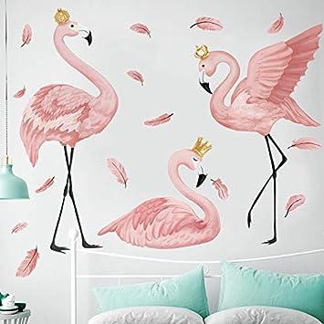 Charmant HDXLI Stickers Muraux,Le Flamingo Queen Stickers Muraux Pour Salon Chambre  Chambre Enfants Chambre Décor