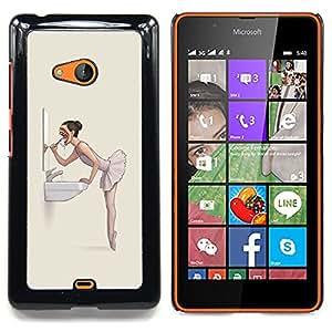 For Microsoft Nokia Lumia 540 N540 - Evil Nightmare Ballerina - Goth /Modelo de la piel protectora de la cubierta del caso/ - Super Marley Shop -