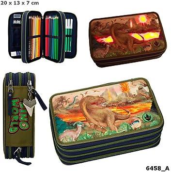 Dino World 3 Compartimento de embalaje original funda LED 2 llenas estuche Estuche *, * *: Amazon.es: Salud y cuidado personal